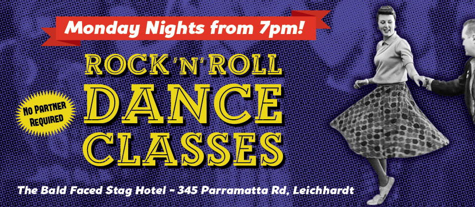 Rock N Roll Dance Classes at the Bald Faced Stag Hotel